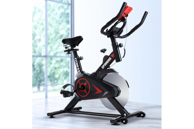 Spin Bike Exercise Flywheel Fitness Commercial Workout Gym Phone Holder