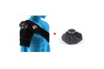 """Ice20 Ice Therapy Single Shoulder Cold Compression Wrap Pain Relief 11"""" Ice Bag"""