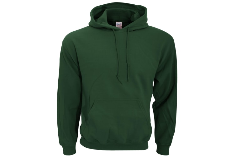 Gildan Heavy Blend Adult Unisex Hooded Sweatshirt / Hoodie (Forest Green) (S)