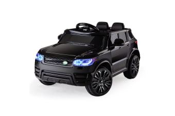 ROVO KIDS Ride-On Car Electric Childrens Toy Battery Powered w/ Remote Black 12V