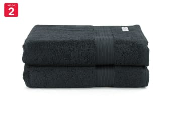 Onkaparinga Ultimate 100% Turkish Cotton Bath Towel Set of 2 (Black)
