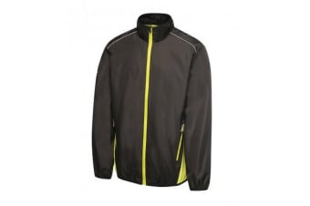 Regatta Activewear Mens Athens Contrast Tracksuit Jacket (Black/Lime Zest)
