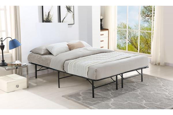 New Folding Stylish Metal Bed Frame Queen Kogan Com