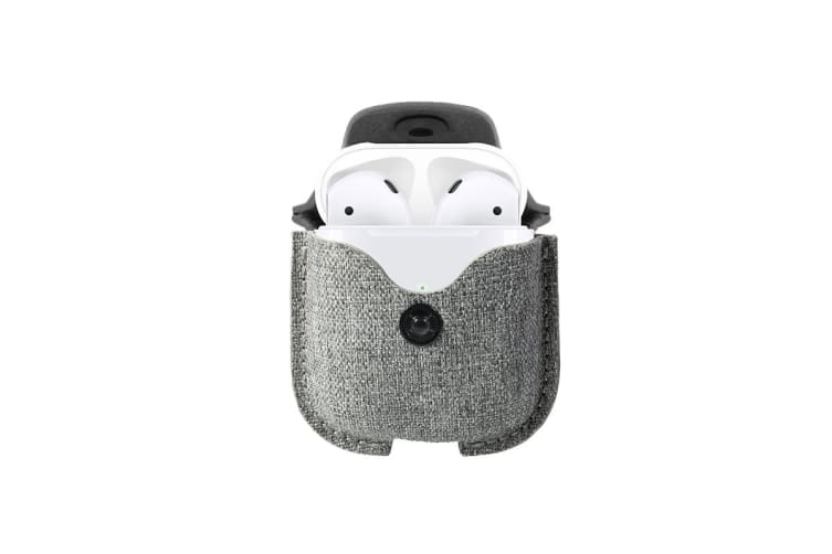 Twelve South AirSnap Case for AirPods - Fog Light Gray Twill