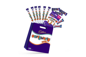12pc Cadbury Curly Wurly Kids Super Showbag w/Boost/Squirlies/Bar Choclolates