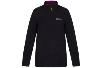 Regatta Great Outdoors Womens/Ladies Sweetheart 1/4 Zip Fleece Top (Black/Blackcurrant) (16)
