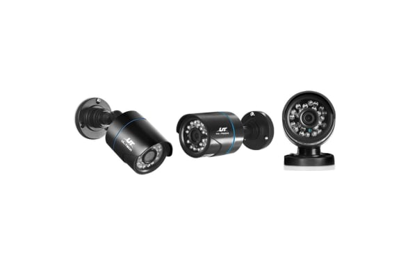 UL-TECH 1080P Eight Channel Security System with Cameras (Black)