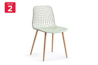 Ovela Set of 2 Leerdam Dining Chairs (Pastel Green)
