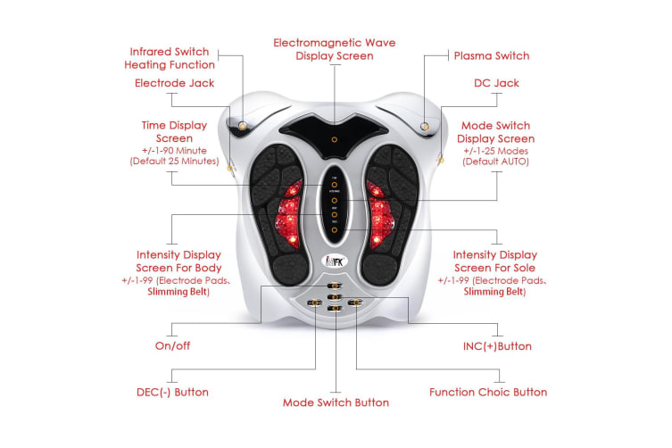 Electromagnetic Wave Pulse Foot Circulation Booster Heat Massager Machine