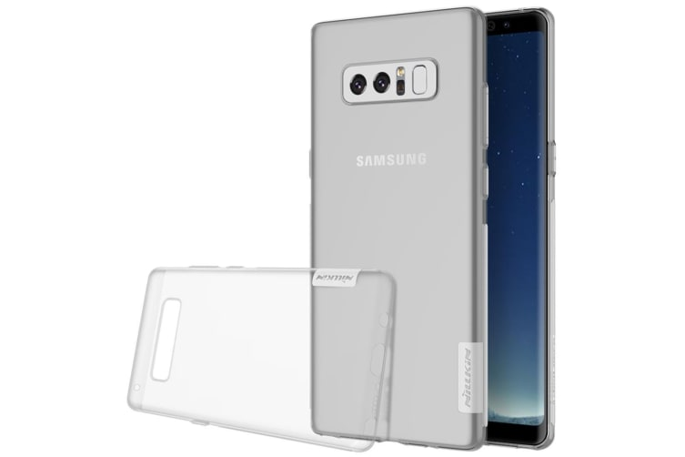 For Samsung Galaxy Note 8 Case Modern Durable Transparent Protective Cover White