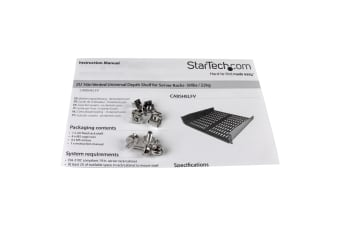 StarTech.com 2U 16in Universal Vented Rack Mount Cantilever Shelf - Fixed Server