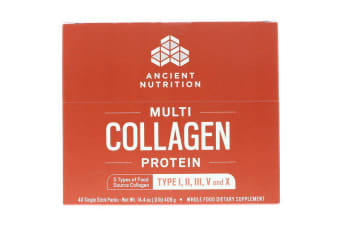 Dr. Axe / Ancient Nutrition Multi Collagen Protein - 40 Single Stick Packets 408g