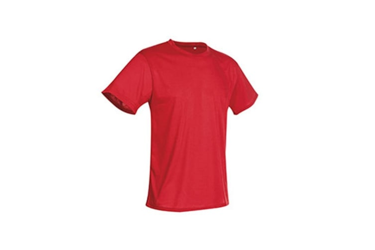 Stedman Mens Active Cotton Touch Tee (Crimson Red) (S)