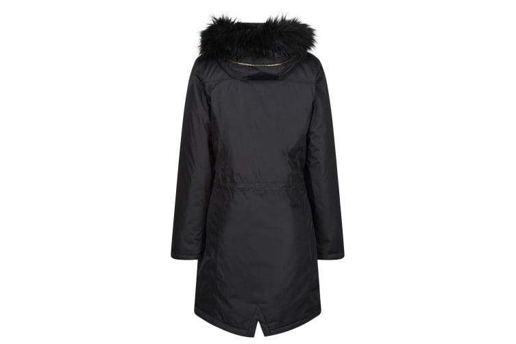 Regatta Womens/Ladies Lexia Long Length Waterproof Parka Jacket (Black) (14 UK)