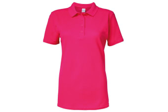 Gildan Softstyle Womens/Ladies Short Sleeve Double Pique Polo Shirt (Heliconia)