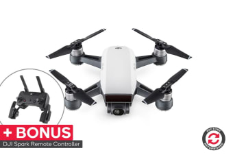 DJI Spark Controller Combo (Alpine White) - Official DJI Refurbished Drone