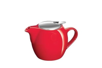 Avanti Camelia Ceramic Teapot 500ml Fire Engine Red