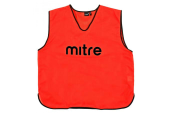 Mitre XXL Adults Running/Soccer/Rugby/Basketball Sports Vest Training Bibs Red