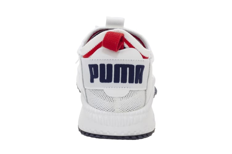 Puma Unisex TSUGI Jun Sport Stripes Trainer (White Peacoat Red) (9.5 UK)