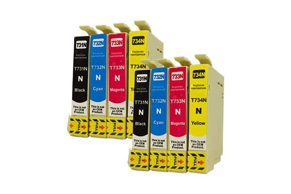 73N Series Pigment Compatible Inkjet Cartridge Set (Two Pack)