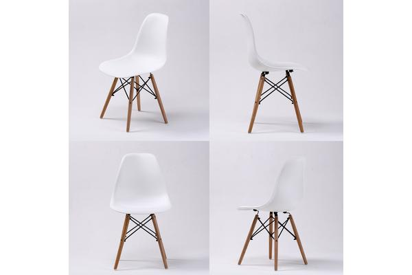 Replica Eames DSW Dining Chair - WHITE X4