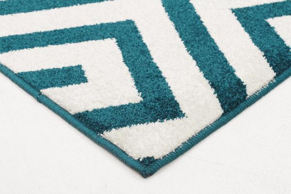 Indoor Outdoor Dolce Rug Peacock Blue 230x160cm