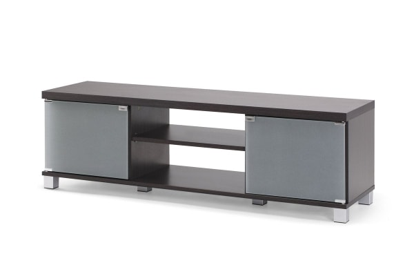 Ovela 2 Glass Door TV Entertainment Unit - York Collection (Brown)