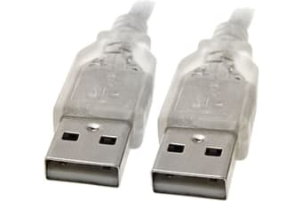 8WARE USB 2.0 Cable 3m A to A Male to Male Transparent