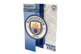 Manchester City F.C. Pop Out Birthday Card (Blue)