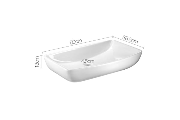 Ceramic Sink Rectangle (White)
