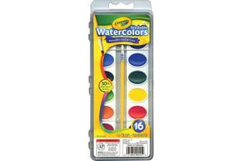 Crayola Washable Watercolours - 16 Pack