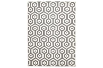 Urban Hive Flat Weave Wool Rug Grey