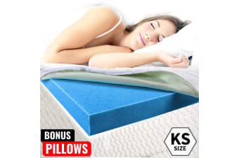 Royal Sleep - COOL GEL Memory Foam Mattress Topper King Single BAMBOO Fabric 8CM