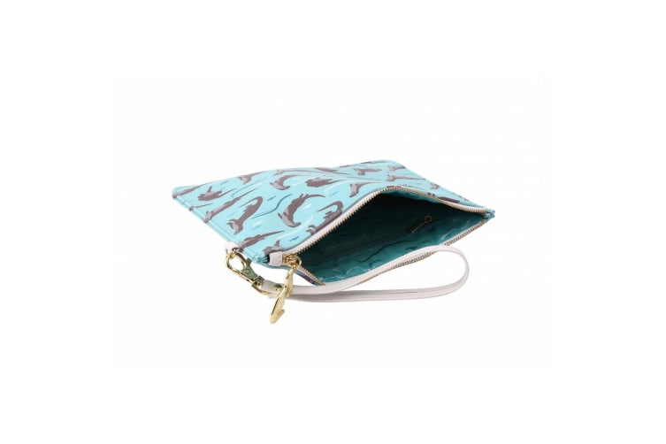 Wild Thoughts Otter Beauty Bag (Blue/Brown) (One Size)