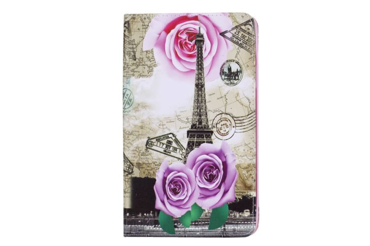 For Samsung Galaxy Tab A 8.0 2017 SM-T380 SM-T385 Case Tower Leather Cover Rose