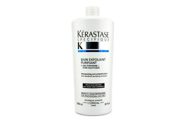 Kerastase Specifique Bain Exfoliant Purifiant Anti-Dandruff Purifying Shampoo (For Oily Scalp) (1000ml/34oz)