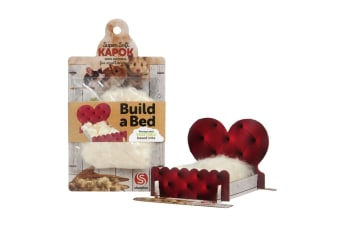 Kapok Build A Bed Small Animal Toy (Brown)