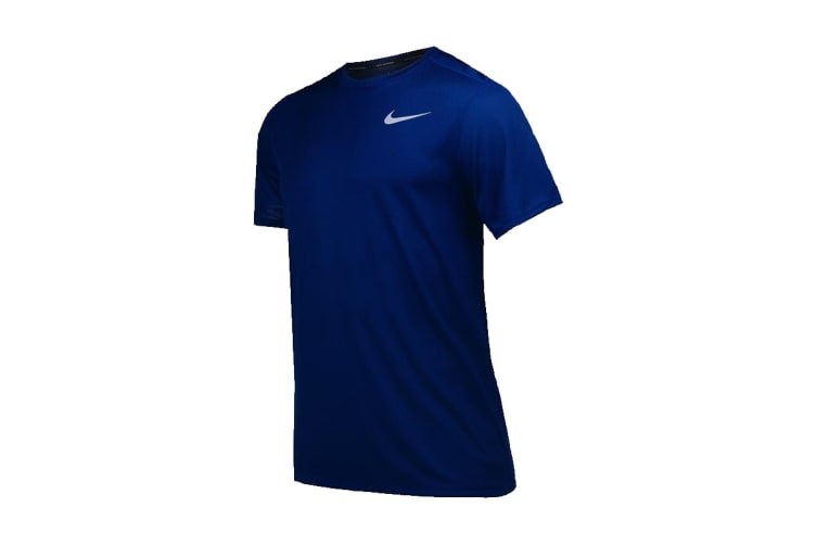 Nike Dri-FIT Breathe Men's T-Shirt (Indigo Force/Reflective Silver, Size M)