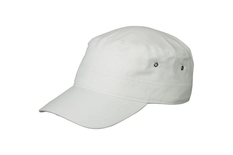 Myrtle Beach Adults Unisex Military Cap (White) (One Size)