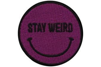 Grindstore Stay Weird Smile Patch (Purple) (One Size)