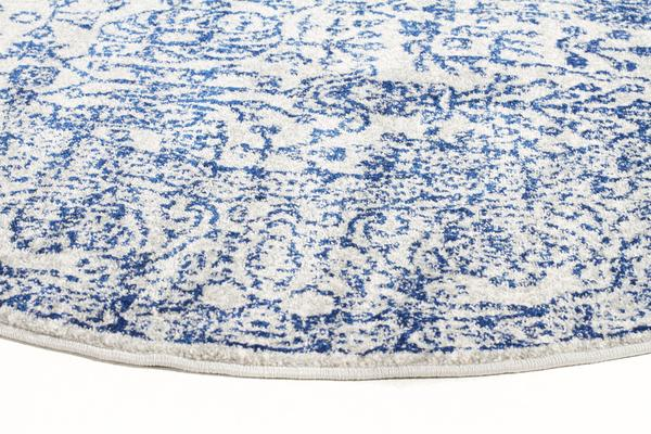 Frost Blue Transitional Rug 240x240cm