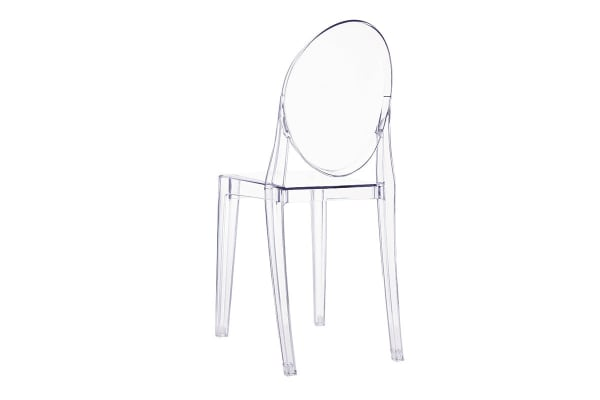 Ovela Set of 4 Ghost Dining Chairs (Clear)