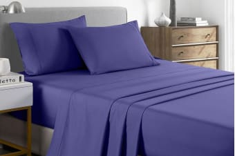 Royal Comfort 2000TC Bamboo Blend Cooling Sheet Set (Double, Royal Blue)
