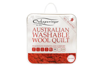 Onkaparinga Australian Wool All Seasons Washable Quilt (Single)