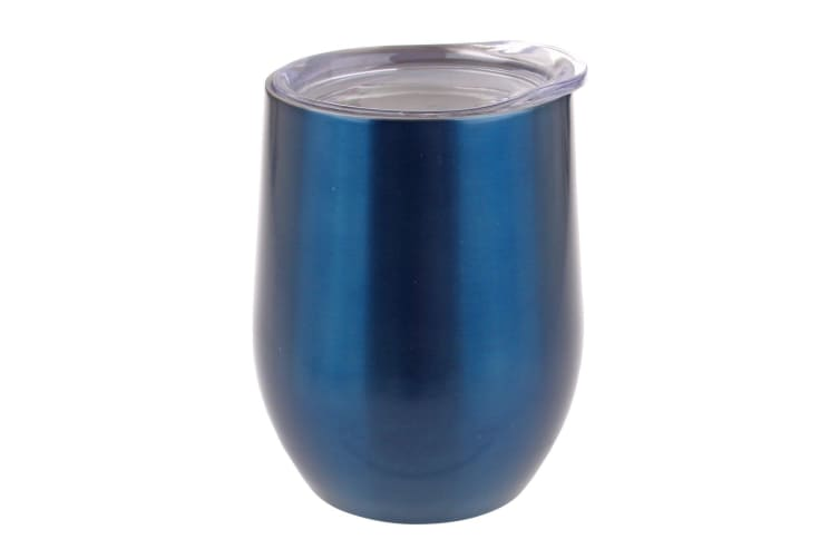 Oasis 330ml Double Wall Wine Tumbler Stainless Steel Sapphire