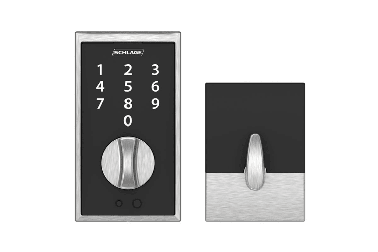 Schlage Touch Keyless Touchscreen Deadbolt with Century Trim (Satin Chrome)