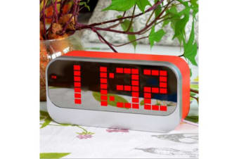 Led Digital Alarm Clock Large Display Portable Battery Powered Red