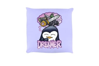 Psycho Penguin Dreamer Cushion (Lilac) (One Size)