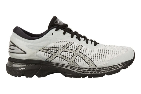 ASICS Men's Gel-Kayano 25 Running Shoe (Glacier Grey/Black, Size 8)
