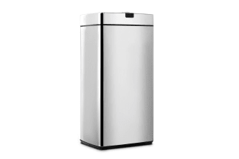 Devanti 45L Motion Sensor Stainless Steel Bin Rubbish Automatic Trash Kitchen Office